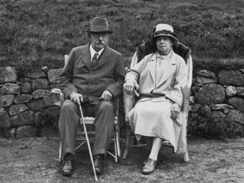 © All rights reserved. A M Mackenzie and his wife on the occasion of their golden wedding.  Courtesy of Alasdair Gordon.